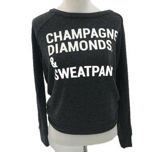 Champagne Diamonds Sweatpants Sweater Chaser Small